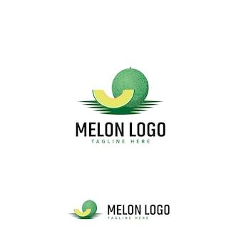 Melon fruit logo