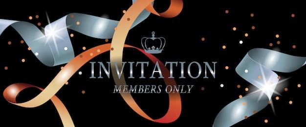 Membros do convite apenas letras em fundo escuro