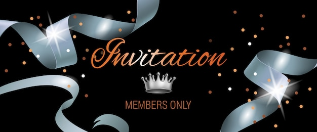 Membros do convite apenas letras em fundo preto