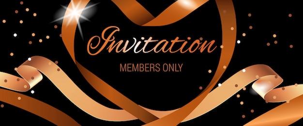 Membros do convite apenas letras