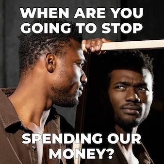 Meme engraçado para gastar dinheiro