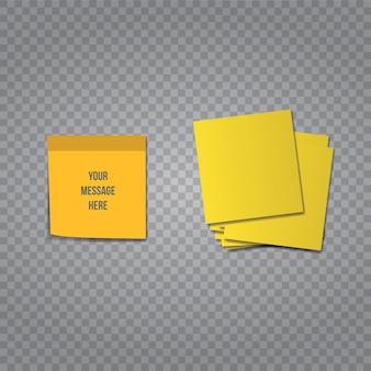 Memorando de escritório vetor adesivo pegajoso em fundo transparente