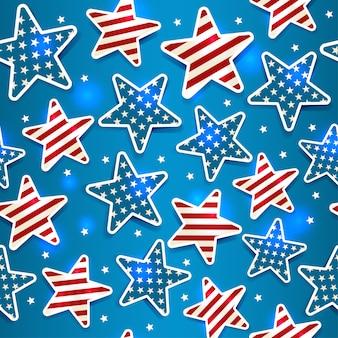 Memorial day com estrela