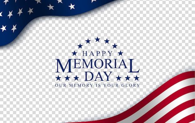 Memorial day dos heróis da américa. feliz fim de semana ou plano de vendas. bandeira americana no fundo do espaço de cópia gratuita para o seu texto. o conceito de vitória e patriotismo.