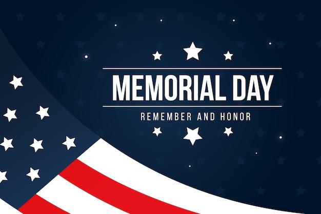 Memorial dia design plano lembrar a liberdade