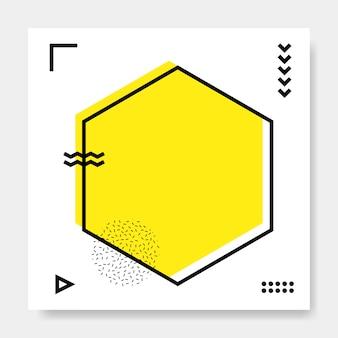 Memphis cartão quadrado