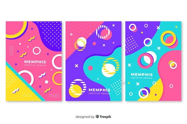 Memphis colorido cobre coleção