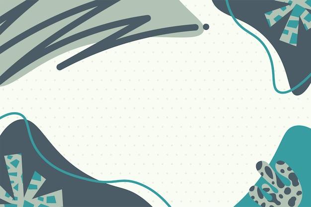 Memphis colorido moderno formas abstratas tosca com fundo de bolinhas vetoriais