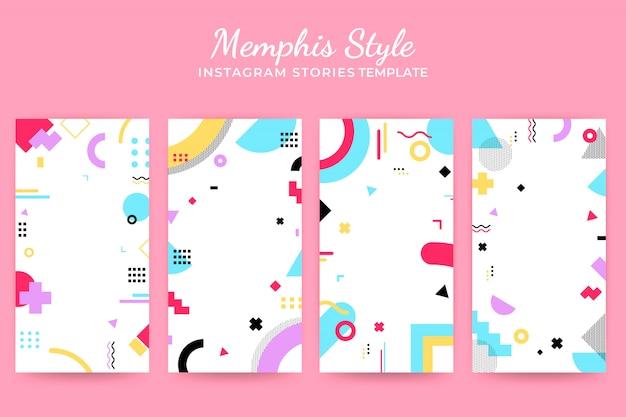 Memphis instragram stories template