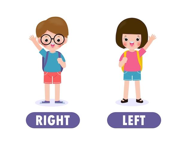 Menina à esquerda e menino à direita