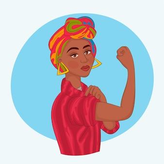 Menina africana com o punho levantado
