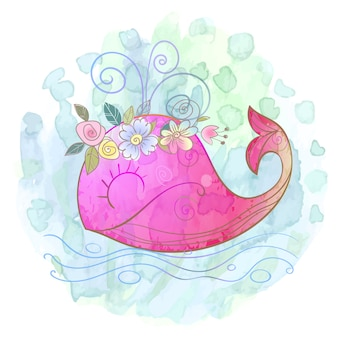 Menina baleia rosa
