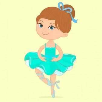 Menina bonita de balé