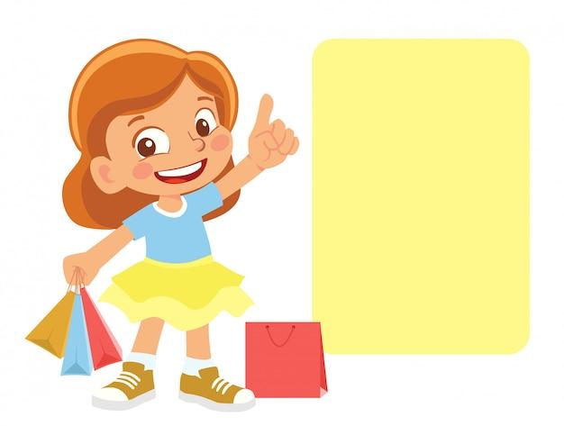 Menina com compras