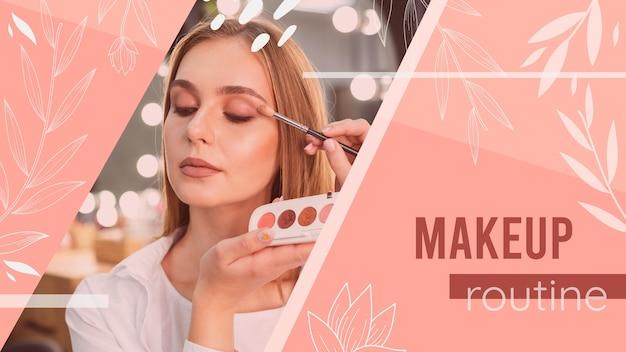 Menina com maquiagem tutorial miniatura do youtube