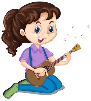 Menina com violão