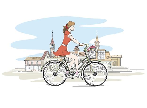 Menina de bicicleta