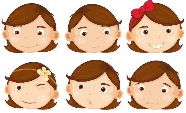Menina de cabelos castanhos