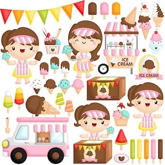 Menina de sorvete