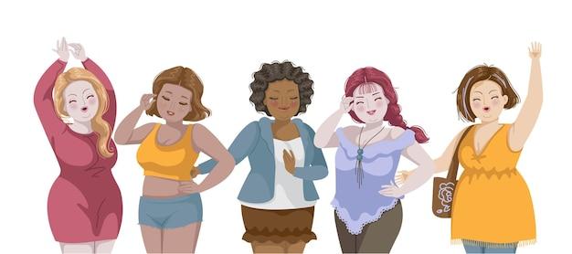Menina gordinha bonita grupo internacional de mulheres