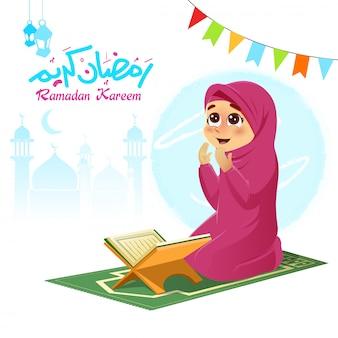 Menina orando por deus