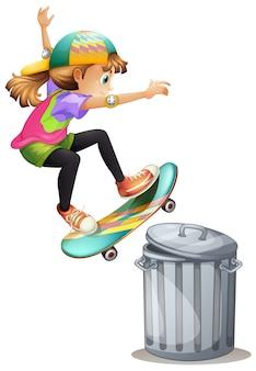 Menina patinação