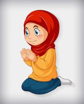 Menina pratica religião