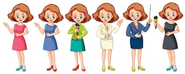 Menina presente personagem profissional