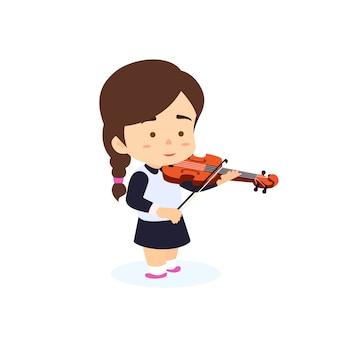 Menina tocando violino