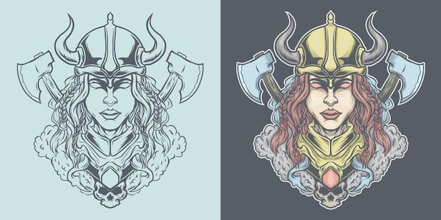 Menina viking