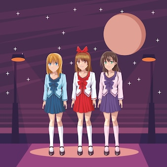 Meninas de anime mangá