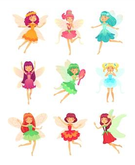 Meninas de fadas dos desenhos animados