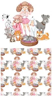 Meninas e animais de estimação