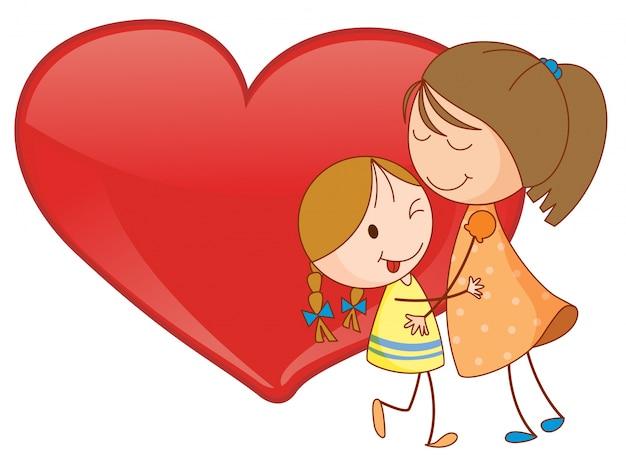 Meninas e coração