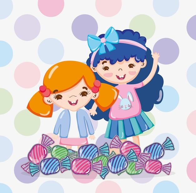 Meninas e doces