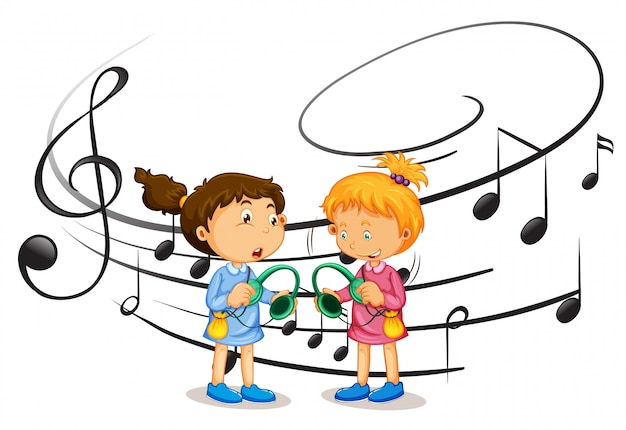 Meninas, escutar música