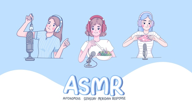 Meninas fazem personagem de desenho animado asmr.