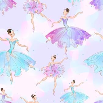 Meninas maravilhosas de bailarina.