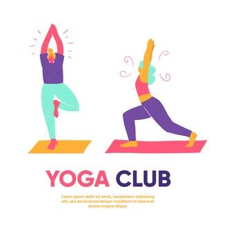Meninas / mulheres em pose de ioga
