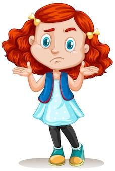 Menininha, com, cabelo vermelho