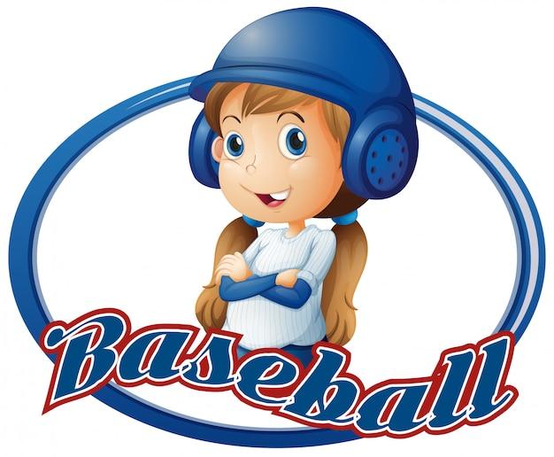 Menininha, em, equipamento baseball