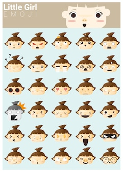 Menininha, emoji, ícones