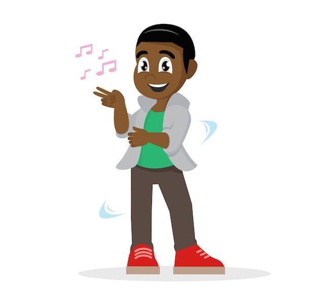 Menino africano, dançar