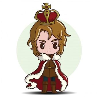 Menino bonitinho vestindo o rei