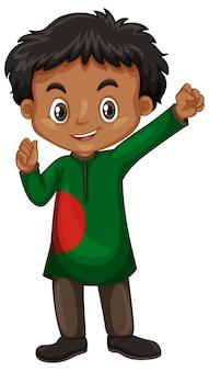 Menino de bangladesh em traje