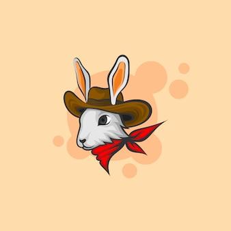 Menino de coelho para design de logotipo esport