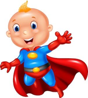 Menino de super-herói dos desenhos animados