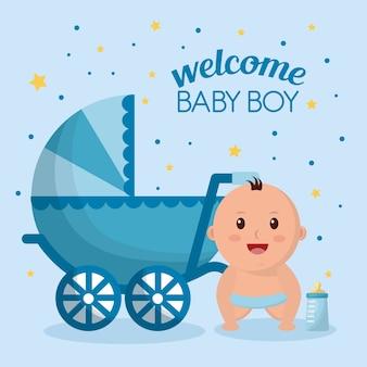 Menino do chuveiro de bebê