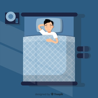 Menino, dormir, cama