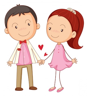Menino e uma menina apaixonada